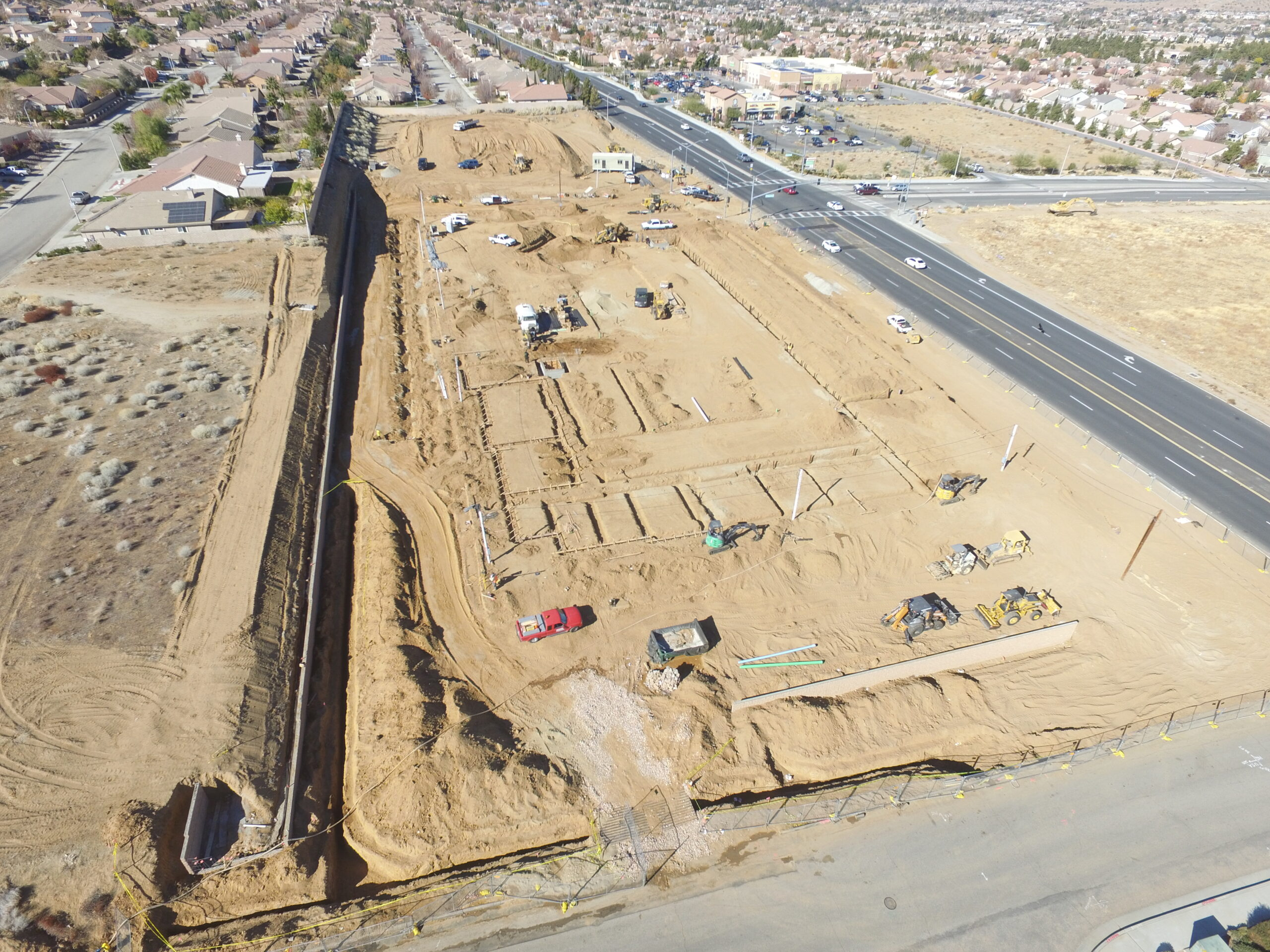 Pacific West Development Completes Undergrounds, Constructing Foundation for Palmdale Assisted Living