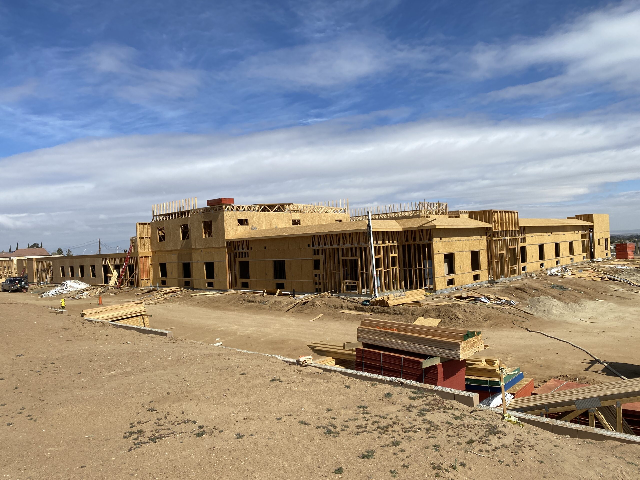 Pacific West Development Continues Framing and Prelim Drywall at Palmdale Assisted Living