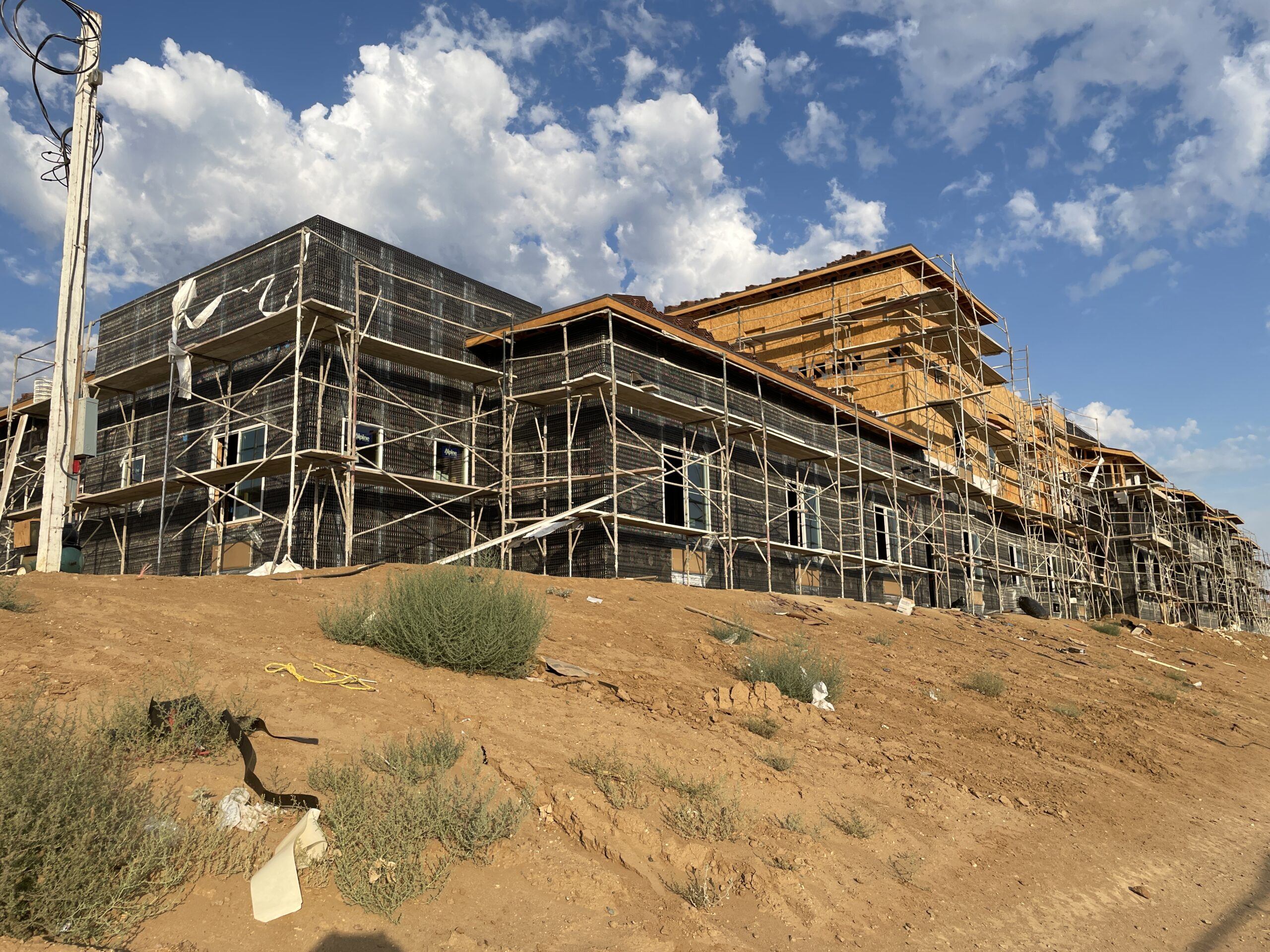 Pacific West Development Starts Stucco and Drywall In Rooms at Palmdale