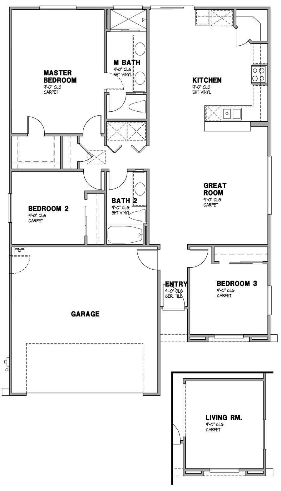 Solana Vista - Residence 1 Layout