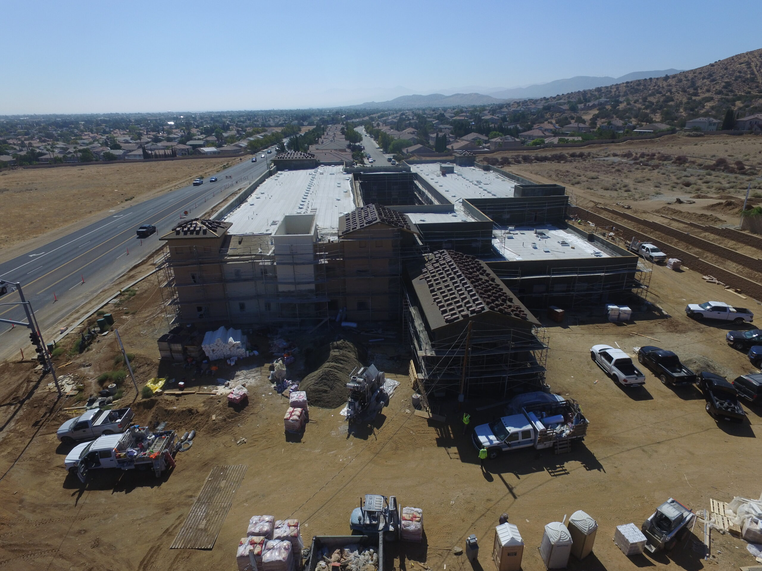 Pacific West Development Completes Stucco at Palmdale Assisted Living